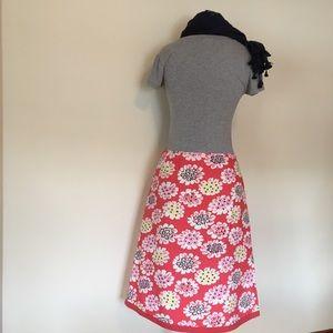 Boden Skirts - Boden floral Print A line skirt coral